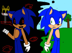 Sonic and sonic.exe (sakileven)