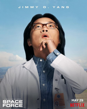 Космос Force - Character Poster - Jimmy O. Yang as Dr. Chan Kaifang