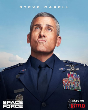 el espacio Force - Character Poster - Steve Carell as General Mark R. Naird