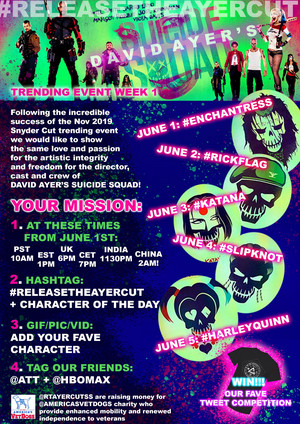 Suicide Squad - Release The Ayer Cut - Twitter Event for June 2020