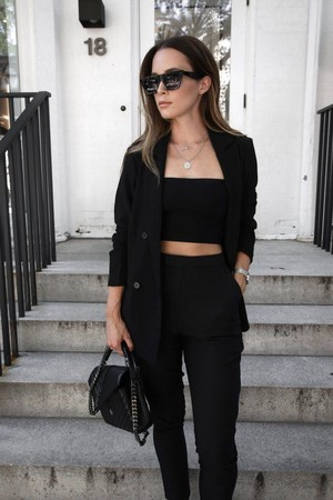 black casual outfit