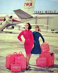 Vintage Promo Ad For For TWA Luggage Set