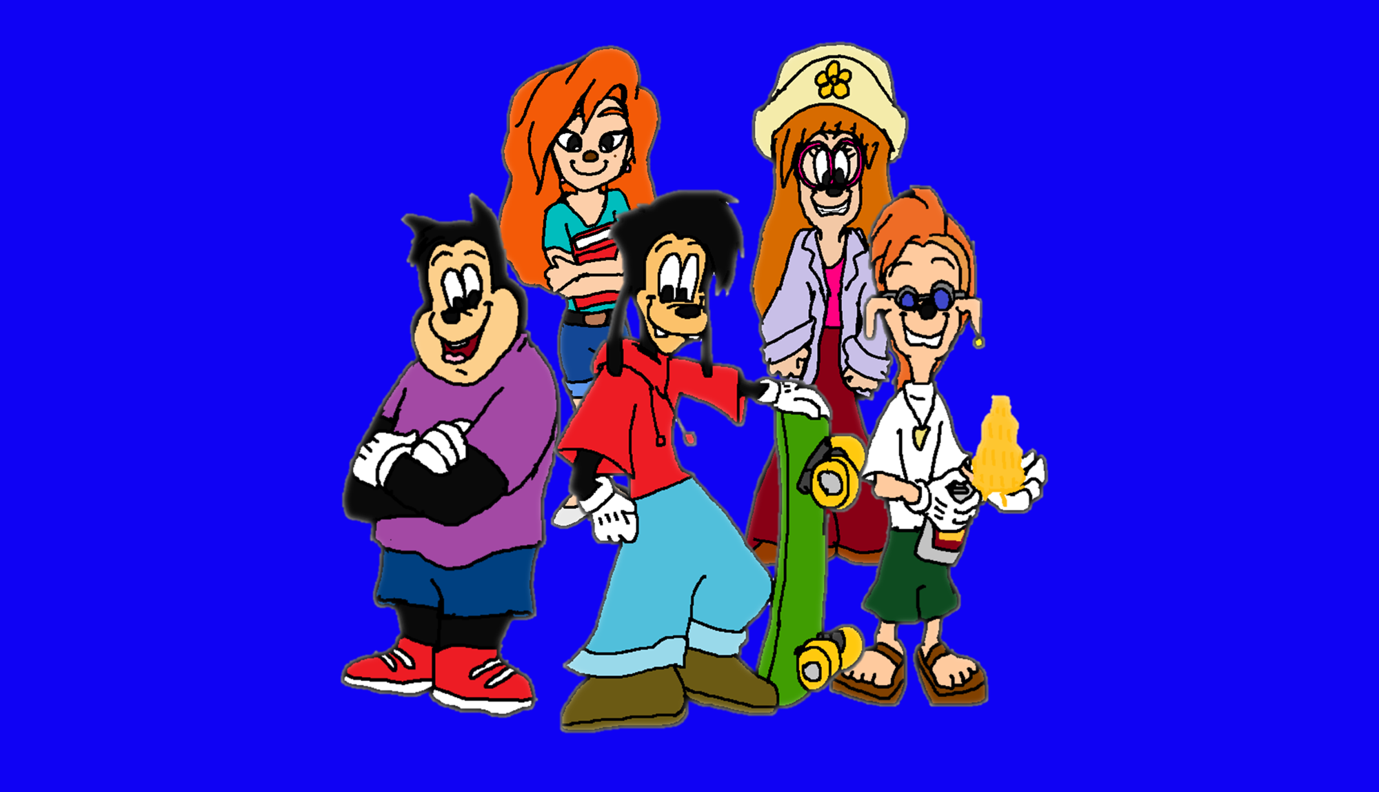 A Goofy Movie Max Pj Bobby Roxanne And Stacy Stacey A Goofy Movie Fan Art 43480809 Fanpop