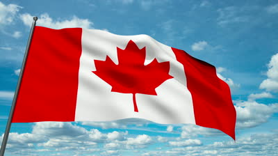 Canadian Waving Flag