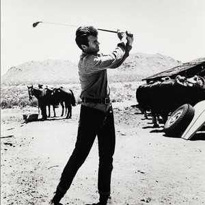 Clint on the set of The Good, the Bad, and the Ugly - 1966