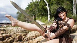 Hot And Sexy Barefoot Xena Warrior Princess Costume Cosplay by thewarriorprincess - December 2011