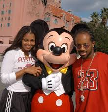 Janet Jackson And Jermaine Dupree With Mickey muis
