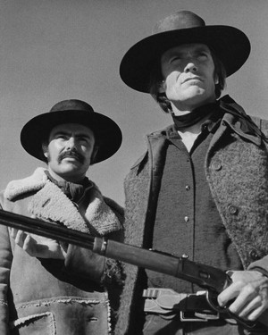 John Saxon and Clint Eastwood in Joe Kidd (1972)