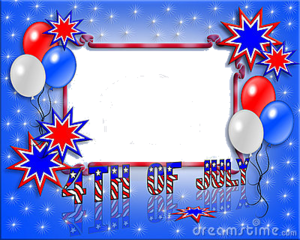 July 4th Frame invitation