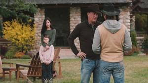Kevin Costner as John Dutton in Yellowstone: Coming home