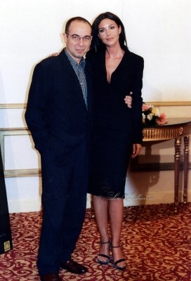 Monica Bellucci and Giuseppe Tornatore at an event for Malèna