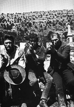On the set of The Good, the Bad, and the Ugly - 1966