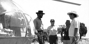 On the set of The Good, the Bad, and the Ugly (1966)