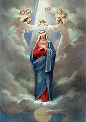 Virgin Mary is the 퀸 of Heaven