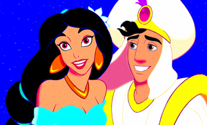 Walt Disney Screencaps - Princess gelsomino & Prince Aladdin
