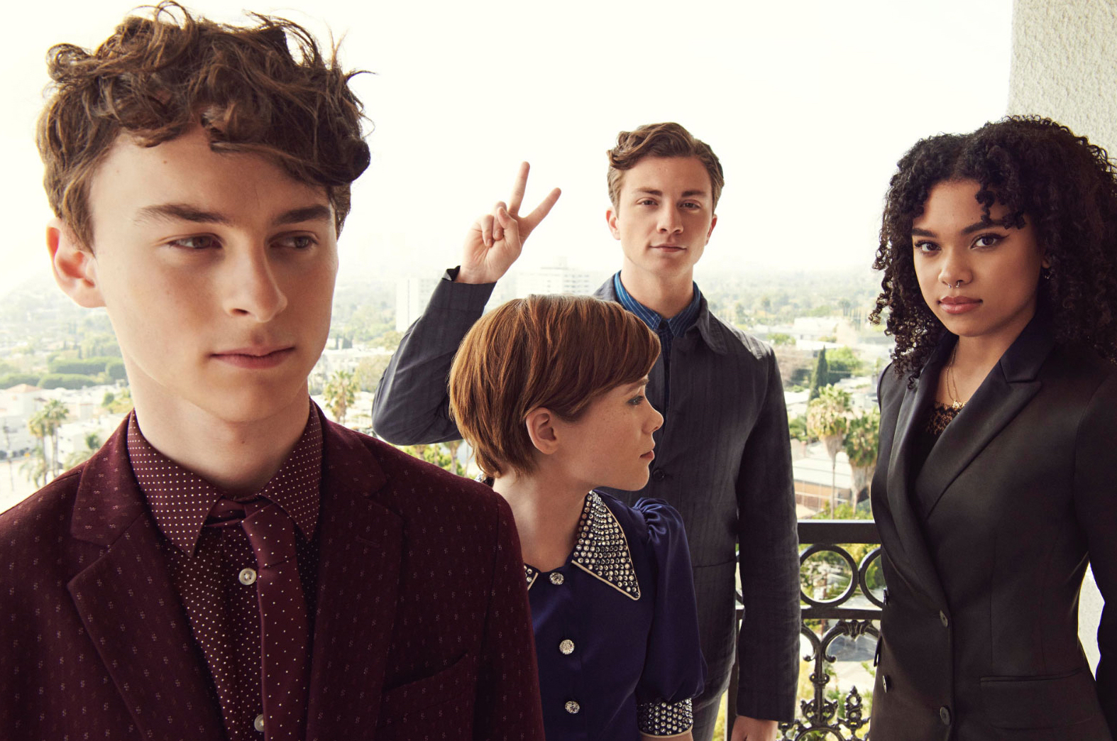 Wyatt Oleff, Sophia Lillis, Richard Ellis and Sofia Bryant - Netflix Queue Photoshoot - 2020