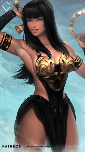 Xena: Warrior Princess - Hot & Sexy Art by Evandro Menezes