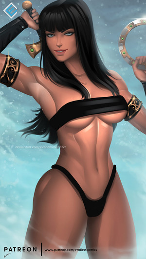 Xena: Warrior Princess - Hot & Sexy Art sa pamamagitan ng Evandro Menezes