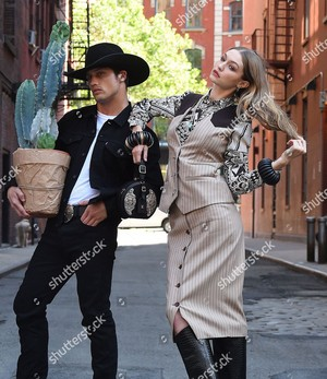 gigi hadid and bonner bolton photoshoot new york usa shutterstock editorial 9697580c