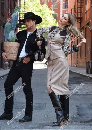 gigi hadid and bonner bolton photoshoot new york usa shutterstock editorial 9697580d