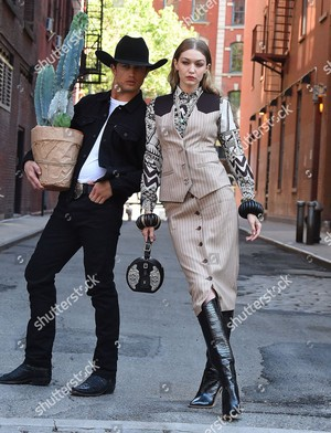 gigi hadid and bonner bolton photoshoot new york usa shutterstock editorial 9697580f