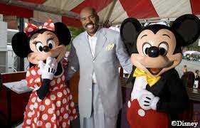 Steve Harvey With Mickey And Minnie