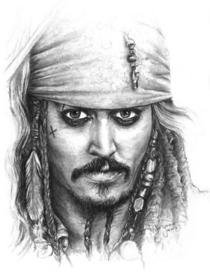 *Jack Sparrow Art :Pirates Of The Caribbean*