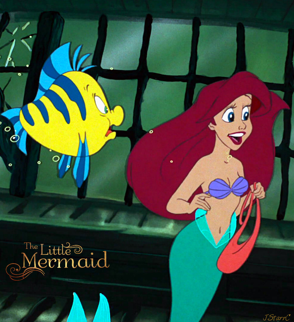 Ariel and Flounder - The Little Mermaid (1989)🧜‍♀️