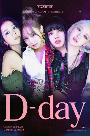 BLACKPINK - 'THE ALBUM' D-DAY POSTER
