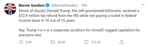 Bernie Sanders on the Trump tax returns