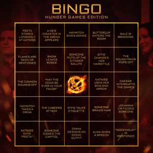 Bingo: The Hunger Games Edition