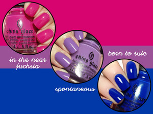 Bisexual Pride: China Glaze Nail Polish