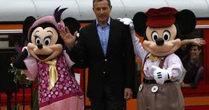 Bob Iger With Mickey And Minnie