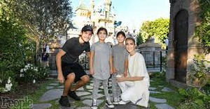 Celine Dion And Her Family Visiting Disneyland
