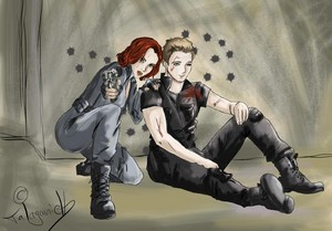 Clint/Natasha Fanart - Care For あなた