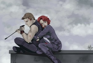 Clint/Natasha Fanart - This Is Nothing We Were Ever Trained For