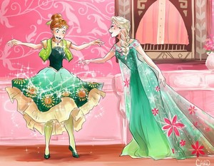 फ्रोज़न fever: Elsa and Anna