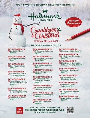 Hallmark Movie Guide - Countdown to Christmas 2020