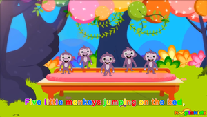 Hooplakïdz Fïve Lïttle Monkeys | Nursery Rhymes