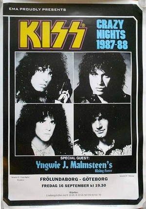 KISS ~Gothenburg, Sweden...September 16, 1988 (Crazy Nights Tour)