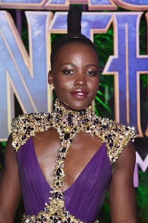 Lupita Nyong'o at an event for Black panter, panther in 2018