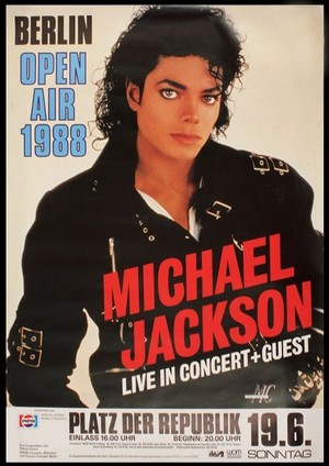 Michael Jackson/BAD/Berlin tour poster 😎