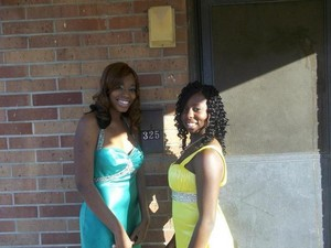 My Friend and I Before We Went to Our Senior Prom