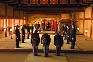 Nathan, Omura, Colonel Bagley, Emperor Meiji and Simon
