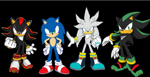Twist,sonic, shadow and silver