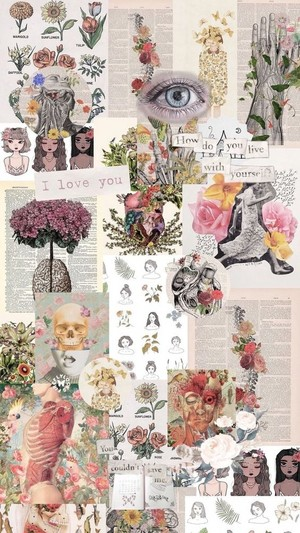 Vintage wallpaper/ collages💖🌻🌸🌹