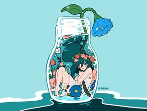 tsuyu with flowers