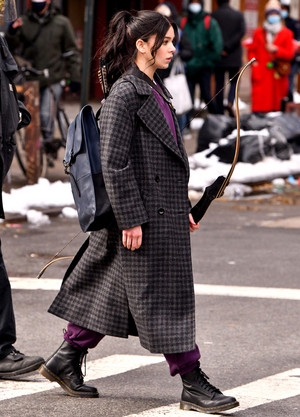 Hailee Steinfeld on set of 'Hawkeye' in New York | December 8, 2020