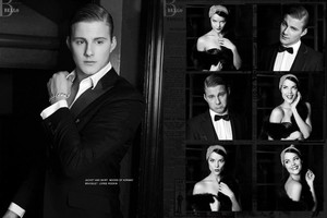 Alexander Ludwig and Jaime Alexander - Bello Photoshoot - 2012