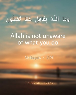 Allah is not unaware of what you do